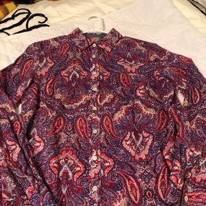 Talbots Paisley Size 10-Excellent Condition